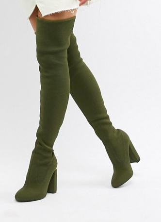 ASOS DESIGN Koko knitted over the knee boots