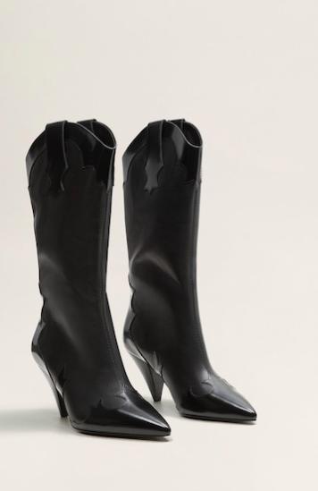 Mango Cowboy leather boots