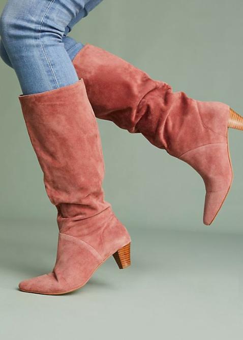 Silent D Kitten-Heeled Riding Boots