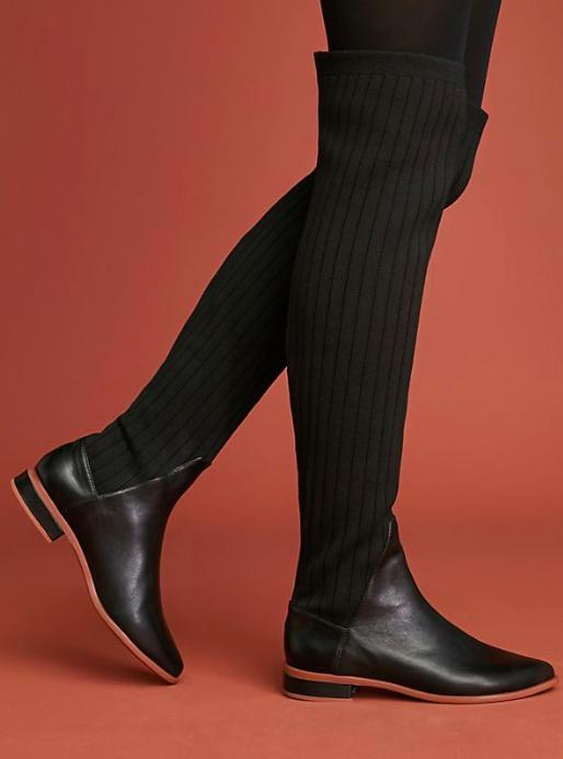 Kelsi Dagger Brooklyn Alva Over-The-Knee Sock Boots