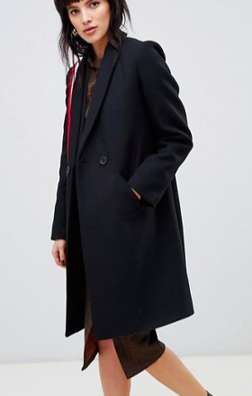 Stradivarius double button mid length coat