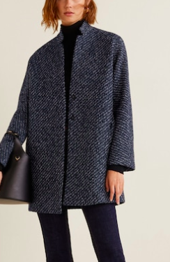 Mango Flecked textured coat