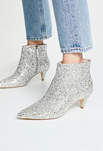 Kate Spade New York Stan Glitter Booties
