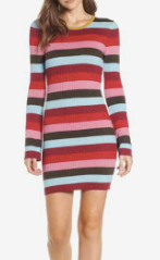 Stripe Sweater Dress BLANKNYC