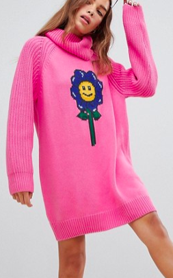 Lazy Oaf flower power sweater dress