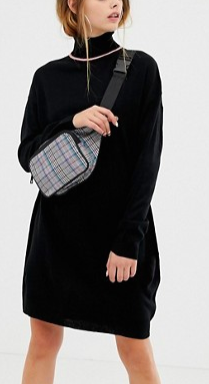COLLUSION roll neck sweater dress