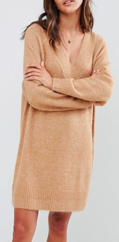 Micha Lounge luxe slouchy sweater dress in mohair blend