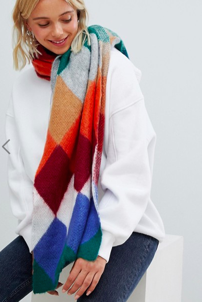 Bershka soft scarf in stripe