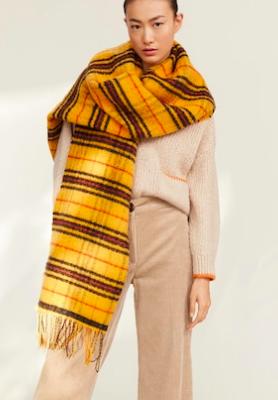 Mango Maxi checked scarf