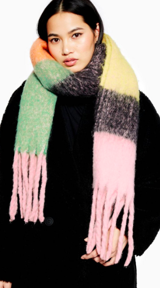 Topshop Bright Brushed Scarf