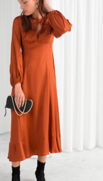 Stories Balloon Sleeve Midi Dress
