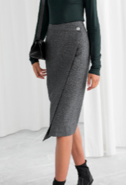 FP Wool Blend Herringbone Skirt
