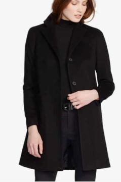 Wool Blend Reefer Coat LAUREN RALPH LAUREN