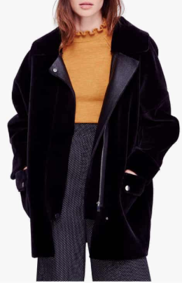 Lindsay Faux Fur Coat FREE PEOPLE