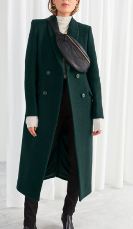 Stories Hourglass Double Breasted Coat