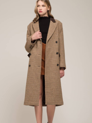 Houndstooth Double Breasted COat MOON RIVER