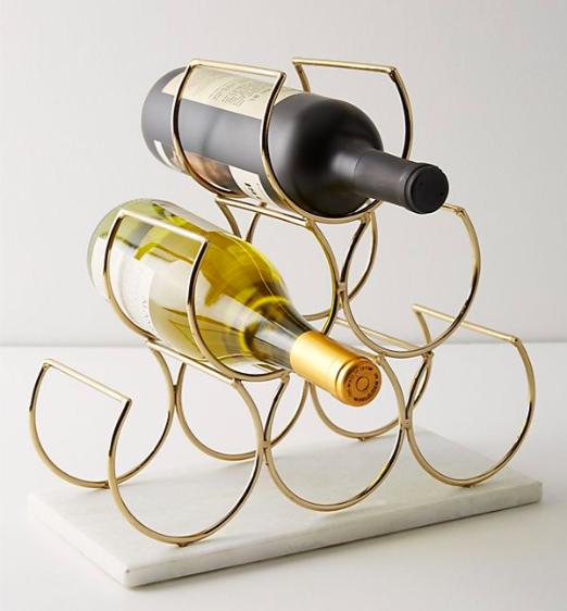 Anthropologie Brass Wine Rack