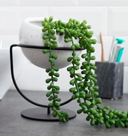 Umbra open black plant pot