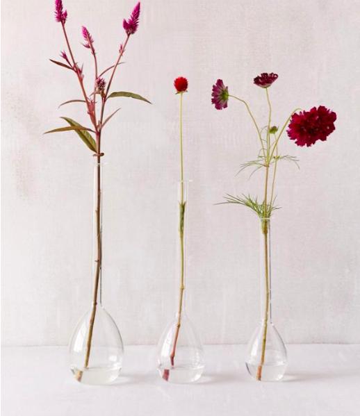 Nina Assorted Teardrop Vases - Set Of 3