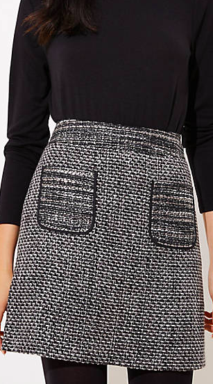 Loft TWEED POCKET SKIRT