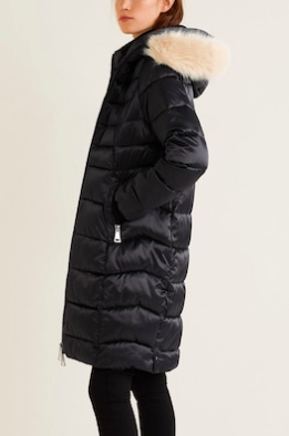 Mango Quilted water-repellent coat