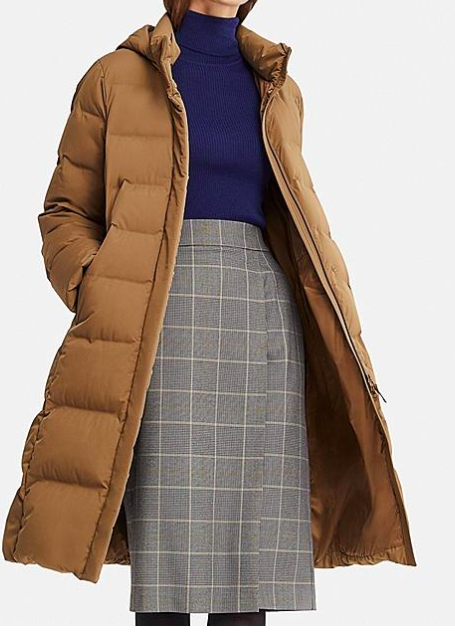 Uniqlo WOMEN SEAMLESS DOWN LONG COAT