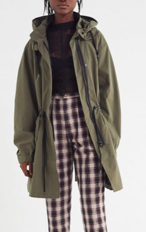UO Hooded Longline Parka Coat