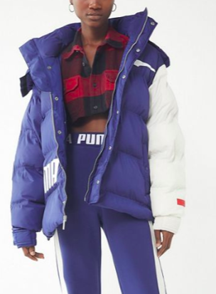 Puma X Ader Error Oversized Colorblock Puffer Jacket