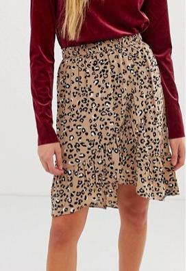 mByM leopard print flippy skirt