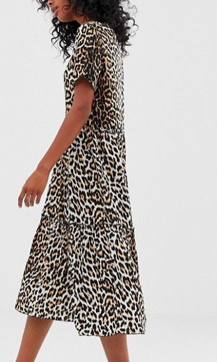 Moves By Minimum leopard print smock dress
