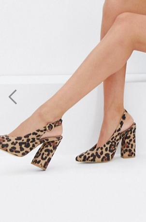 RAID Brook leopard print block heeled shoes
