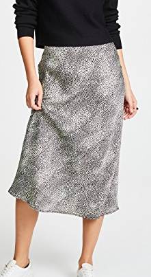 re:named Leopard Midi Skirt