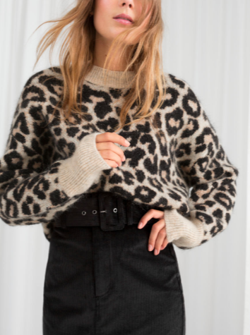 Stories Oversized Leopard Sweater