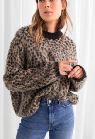 Stories Leopard Knit Sweater