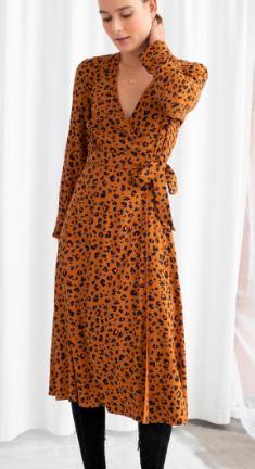 Stories Leopard Print Wrap Dress