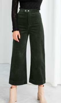 Stories Duo Snap Button Corduroy Culottes