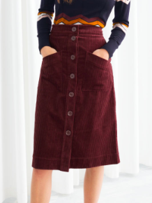 Stories A-Line Corduroy Skirt