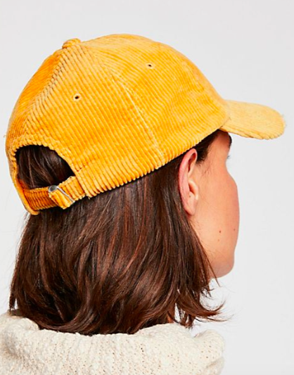 Miles Distressed Cord Baseball Hat