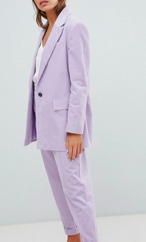 ASOS DESIGN cord tailored blazer