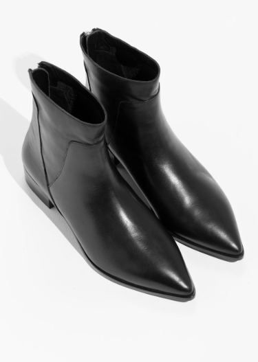 Stories Leather Zip Boots