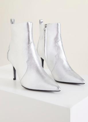 Mango Metallic heel ankle boots