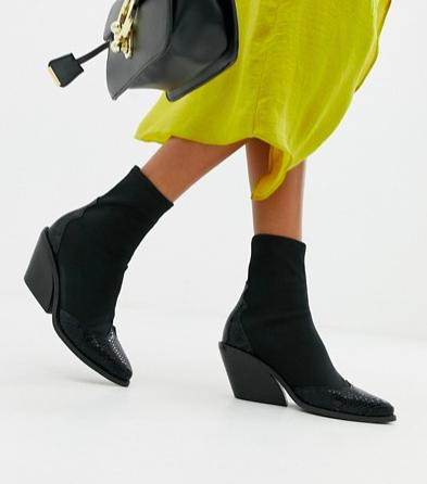 ASOS DESIGN Raglan western sock boots