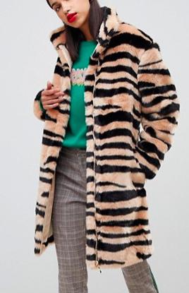Sofie Schnoor zebra print coat