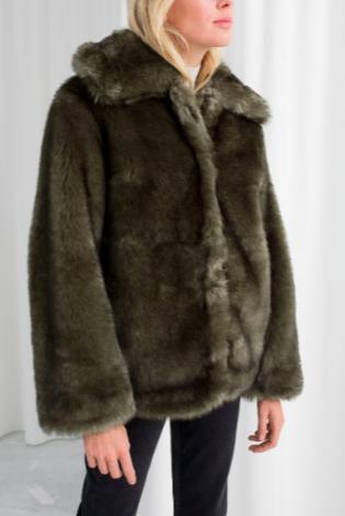 Stories Short Faux Fur Jacket