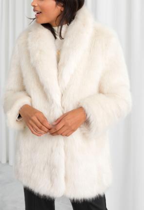Stories Faux Fur Coat