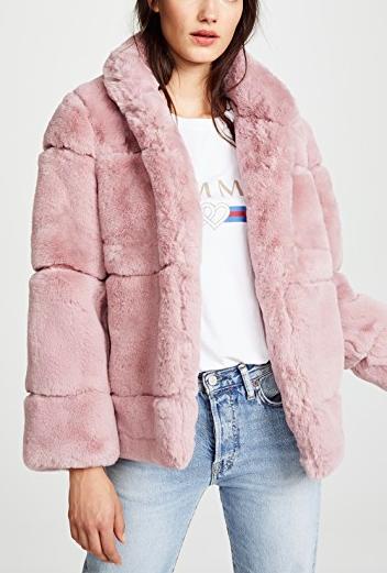 Apparis Sarah Quilted Fur Coat