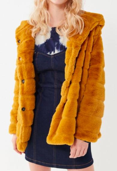 Apparis Goldie Faux Fur Hooded Coat
