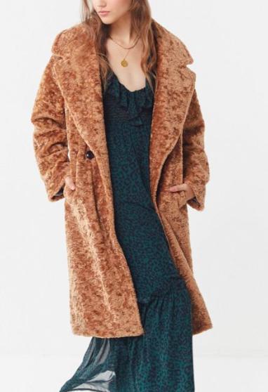 Avec Les Filles Faux Fur Cocoon Coat