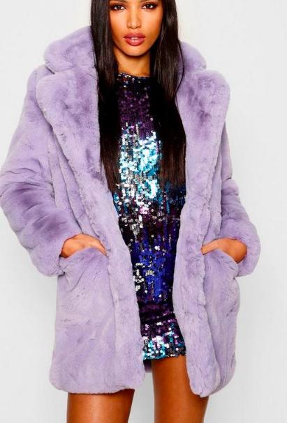 Boohoo Boutique Faux Fur Coat
