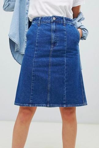 Lee a-line denim skirt